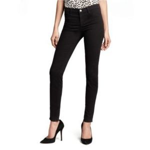 J Brand 485 MidRise Super Skinny Luxe Sateen Jeans